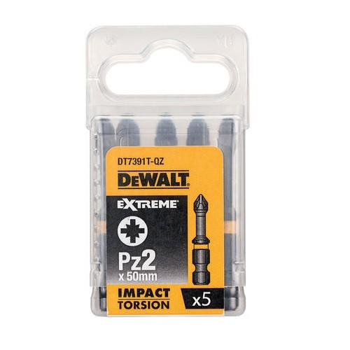 DeWalt DT7391T-QZ Pz2 x 50mm Extreme Impact Torsion Screwdriver Bits Pack of 5
