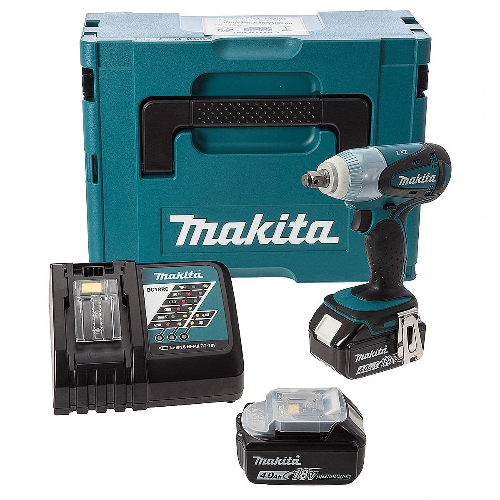 makita dtw251rmj lxt 18v cordless impact wrench inc 2 x 4ah batteries powertool world. Black Bedroom Furniture Sets. Home Design Ideas