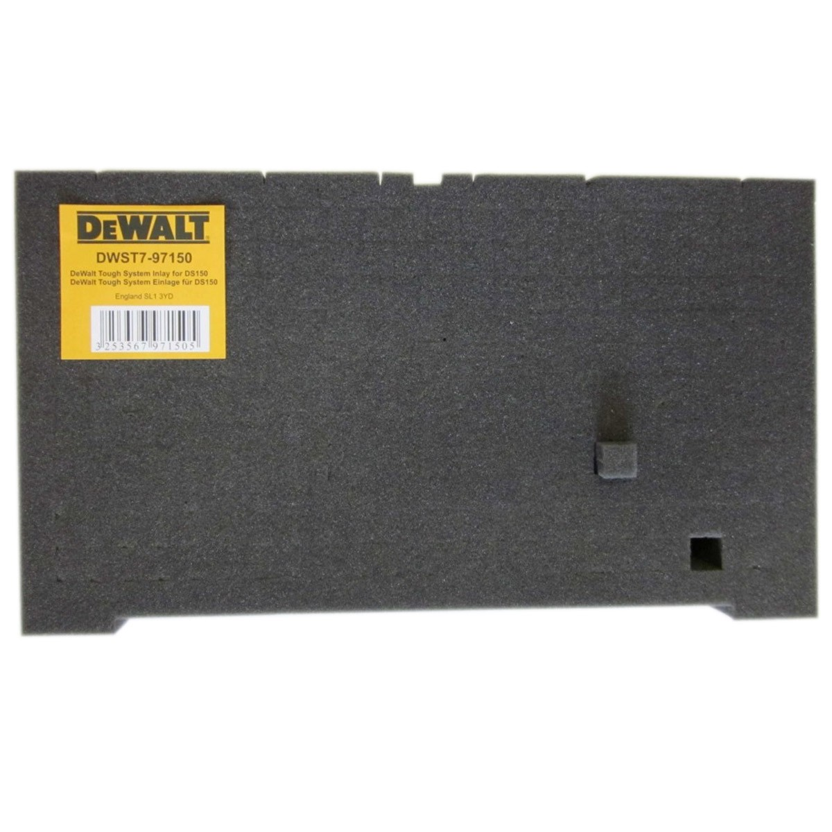 DeWalt DWST7-97150 Customisable Foam Inlay for TOUGHSYSTEM DS150