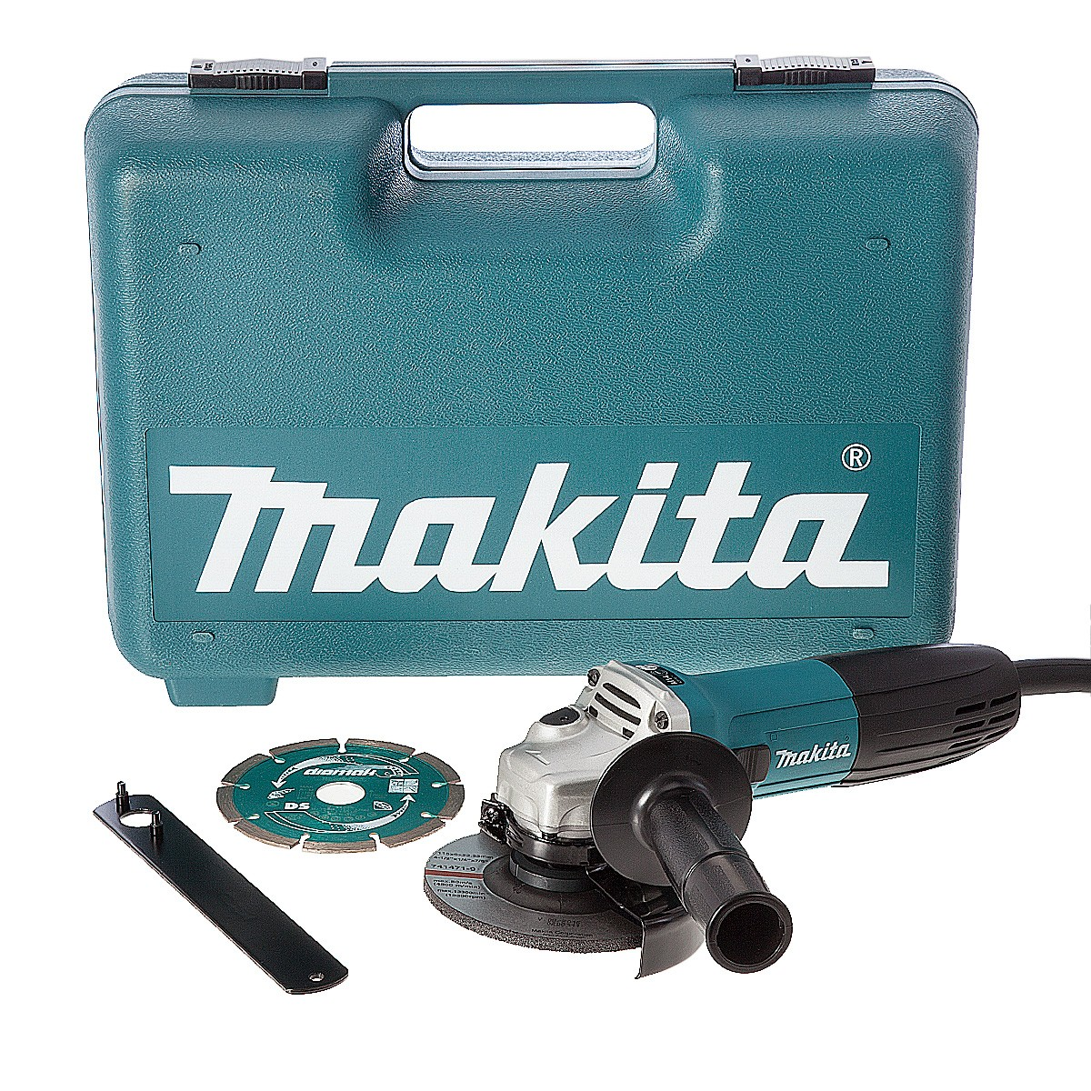 Makita GA4530KD 115mm Angle Grinder with Diamond Blade & Carry Case
