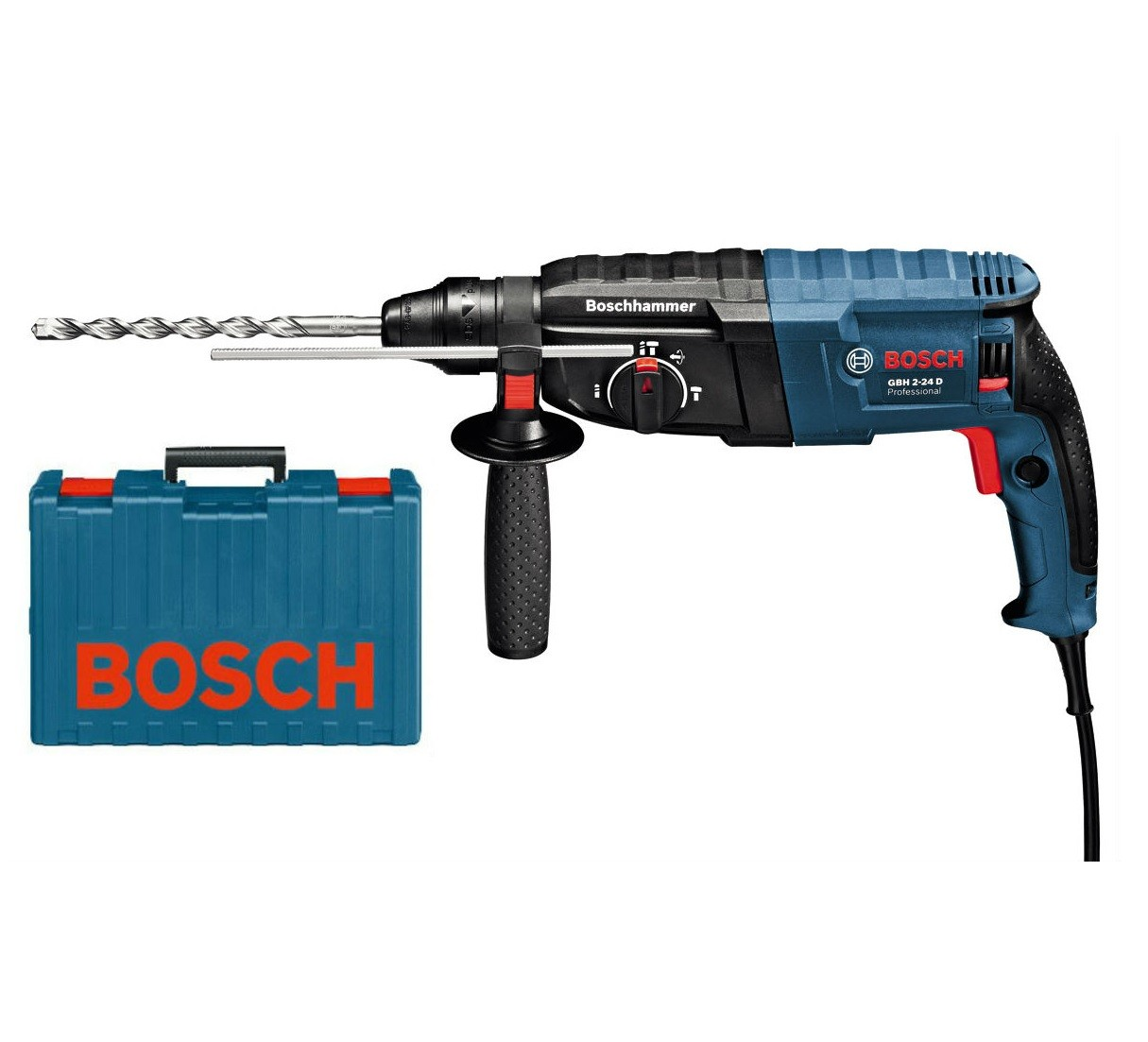 bosch gbh 2 24 d sds rotary hammer in carry case powertool world. Black Bedroom Furniture Sets. Home Design Ideas