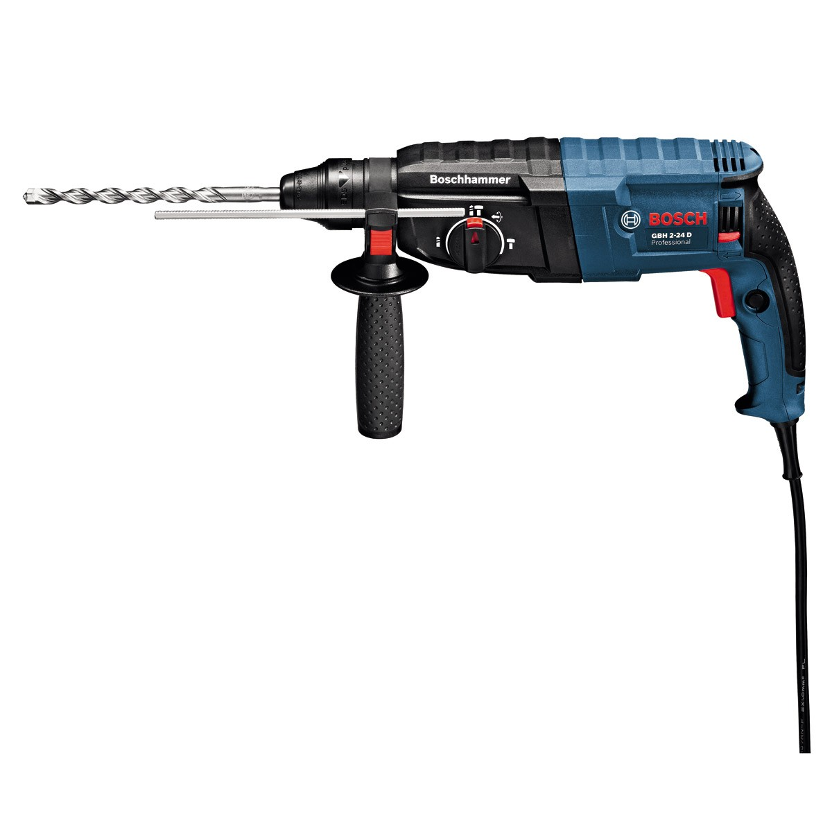 bosch gbh 2 24 d sds rotary hammer in carry case. Black Bedroom Furniture Sets. Home Design Ideas