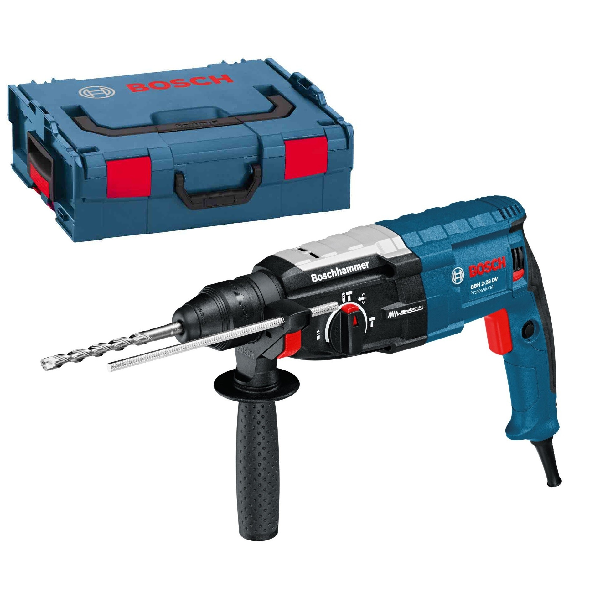 bosch gbh 2 28 dv sds plus rotary hammer drill in l boxx powertool world. Black Bedroom Furniture Sets. Home Design Ideas