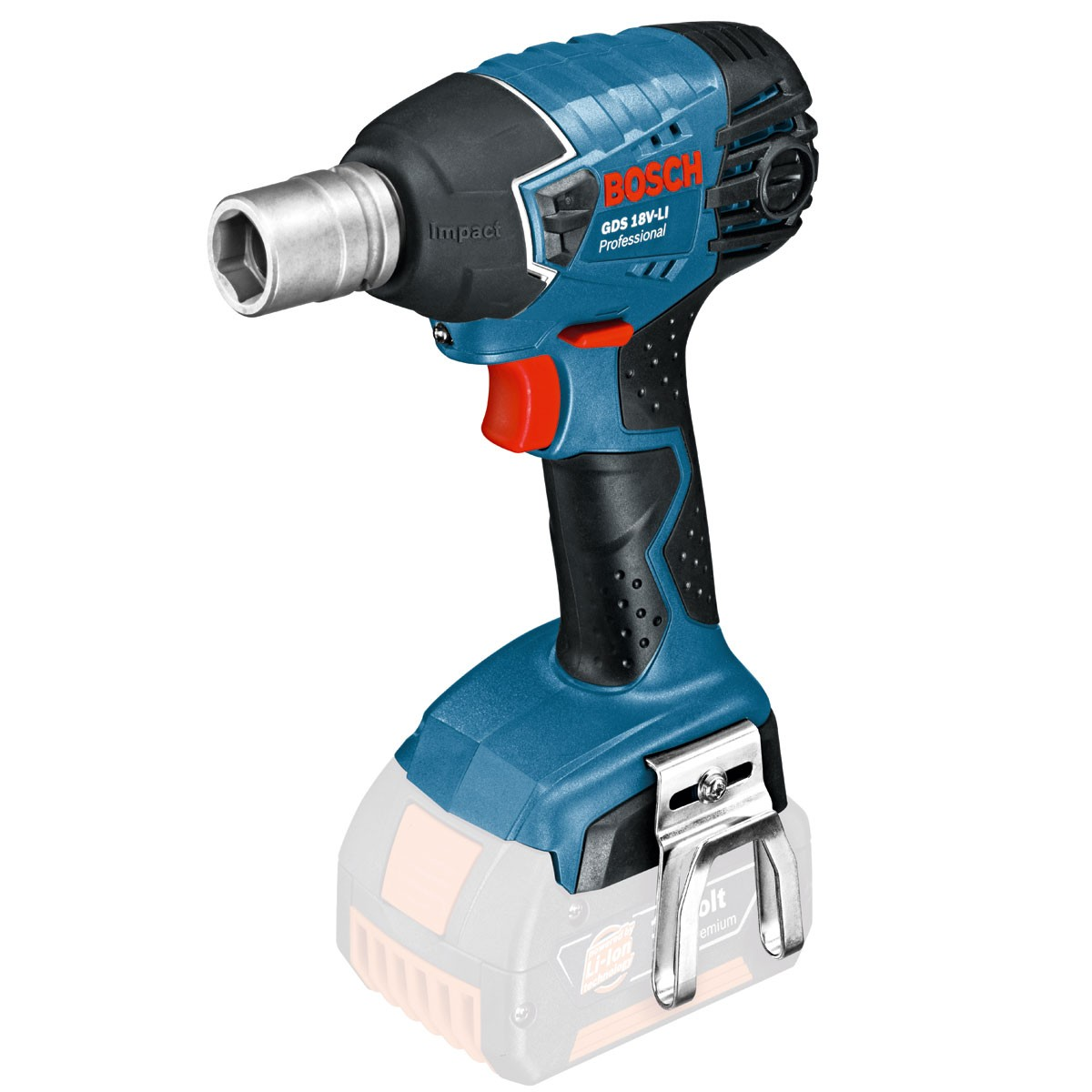 bosch gds 18 v li cordless impact wrench body only powertool world. Black Bedroom Furniture Sets. Home Design Ideas