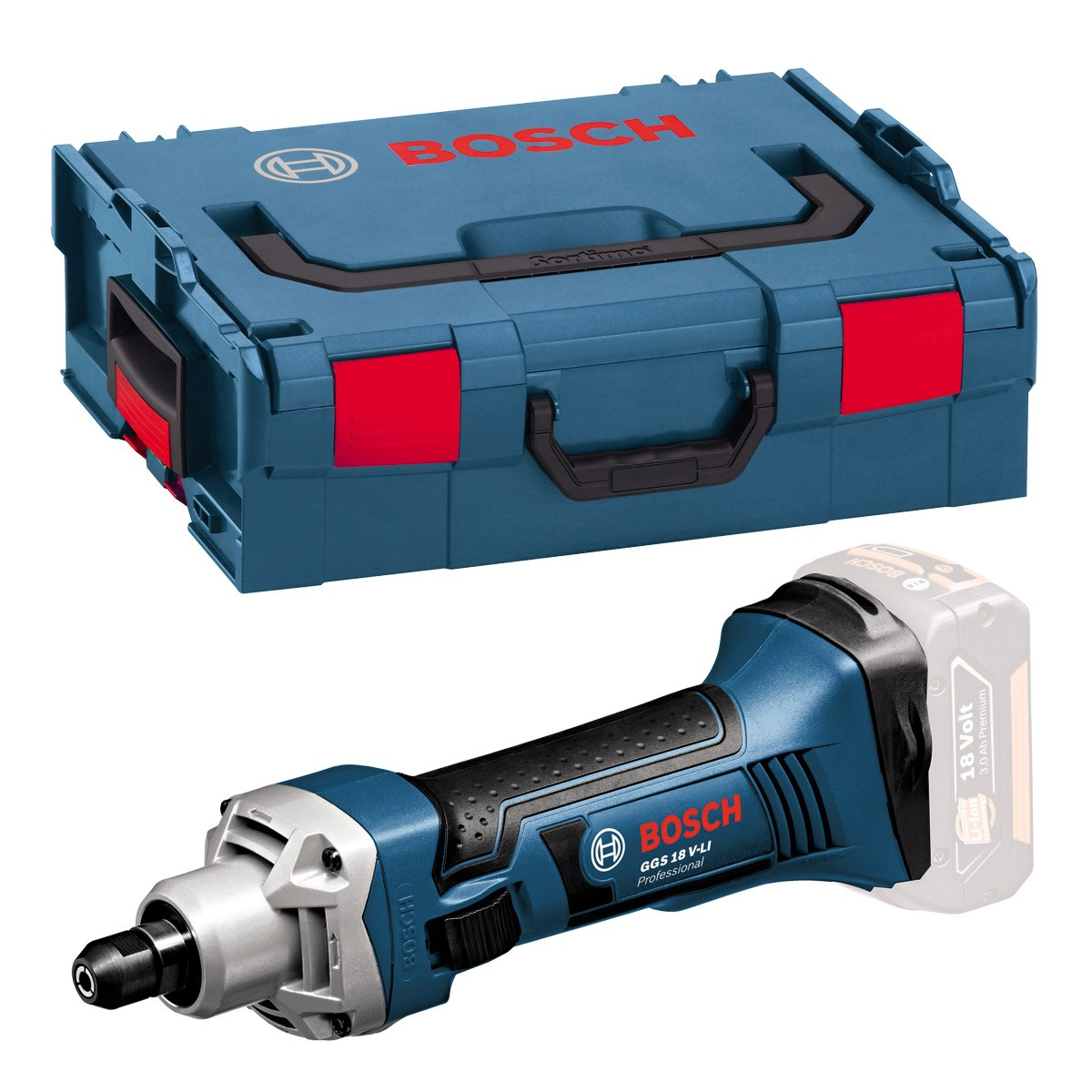 Bosch GGS 18 V-LI Straight Grinder Body Only in L-Boxx