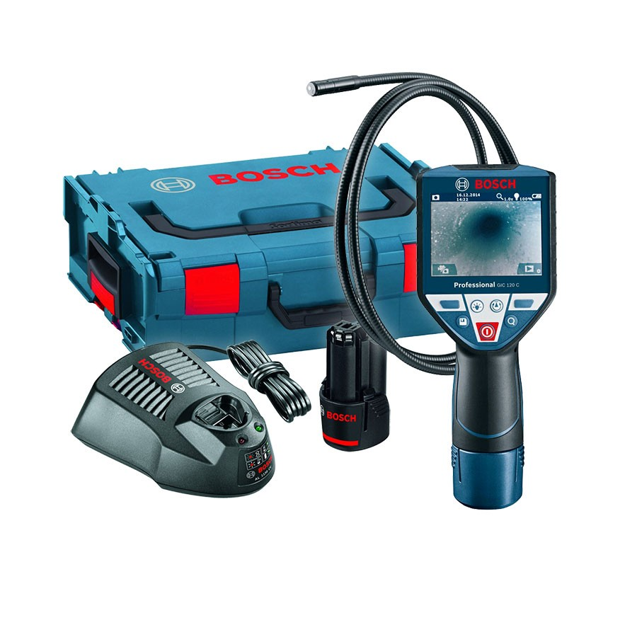 bosch gic 120 c professional inspection camera in l boxx powertool world. Black Bedroom Furniture Sets. Home Design Ideas