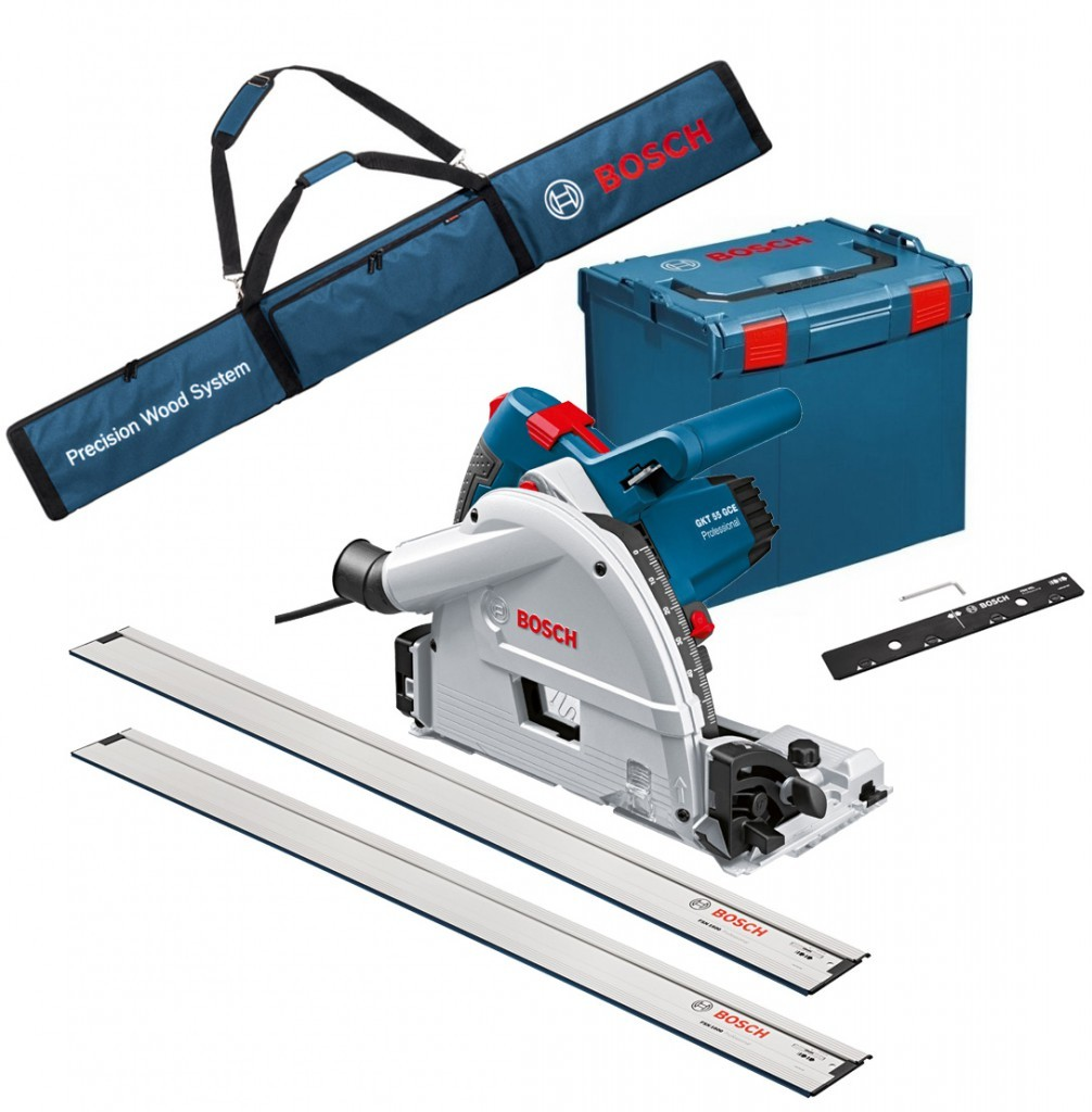 Bosch GKT 55 GCE Plunge Saw inc Guide Rail, Connector & Bag 110v
