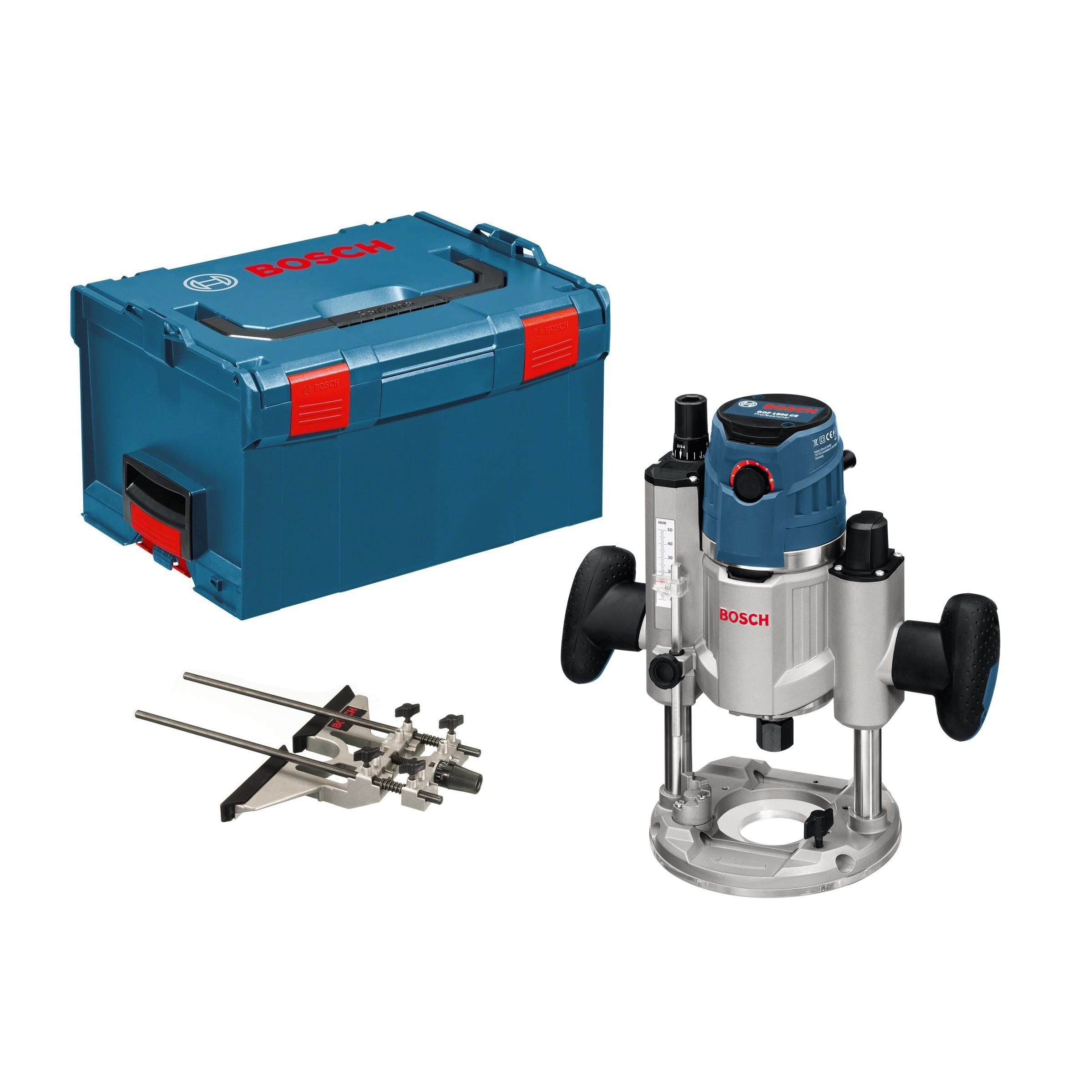 "Bosch GOF 1600 CE Professional Plunge-Cutting 1/4"" + 1/2"" Router"