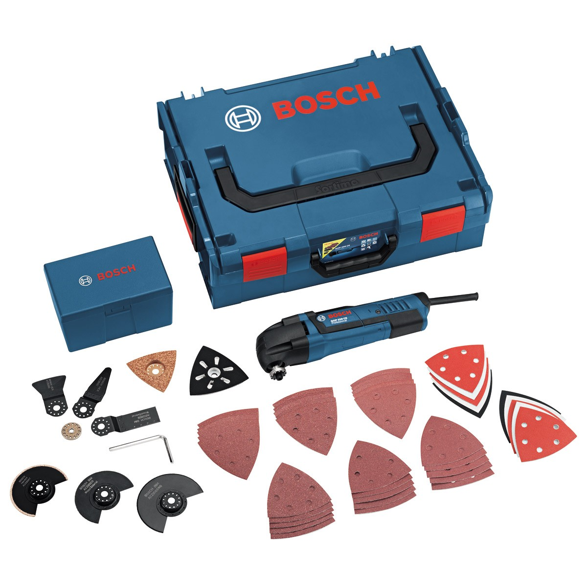 Bosch GOP 250 CE 240v inc 48 Accessories in L-Boxx