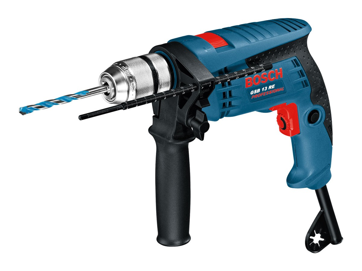 Bosch GSB 13 RE Single Speed Impact Drill 110v