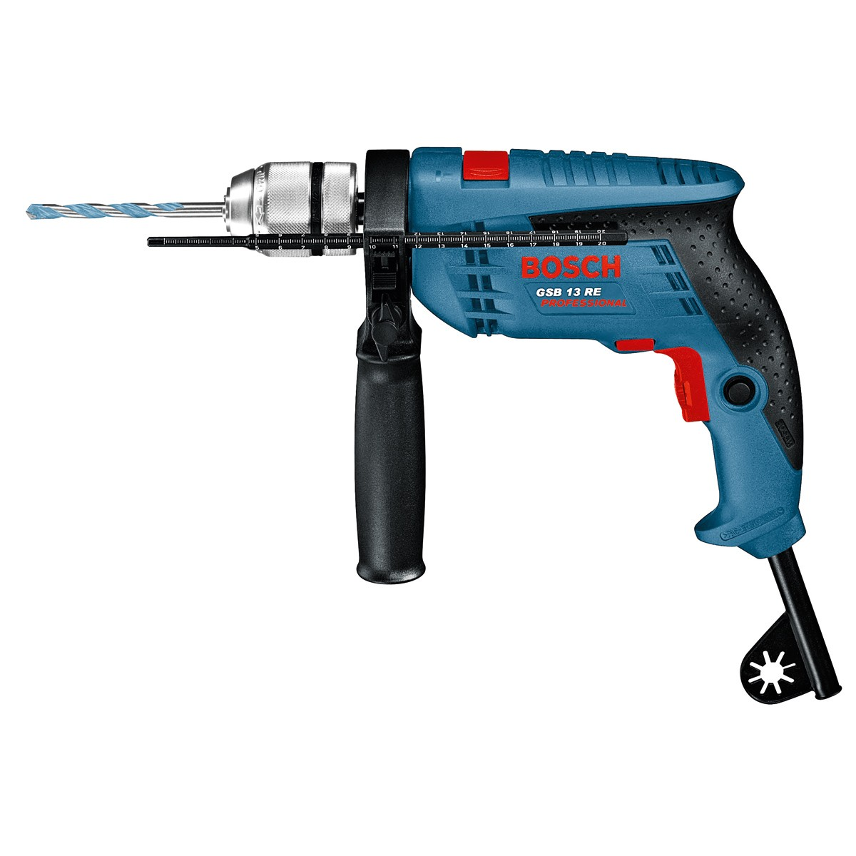 bosch gsb 13 re 600w impact percussion drill in carry case. Black Bedroom Furniture Sets. Home Design Ideas