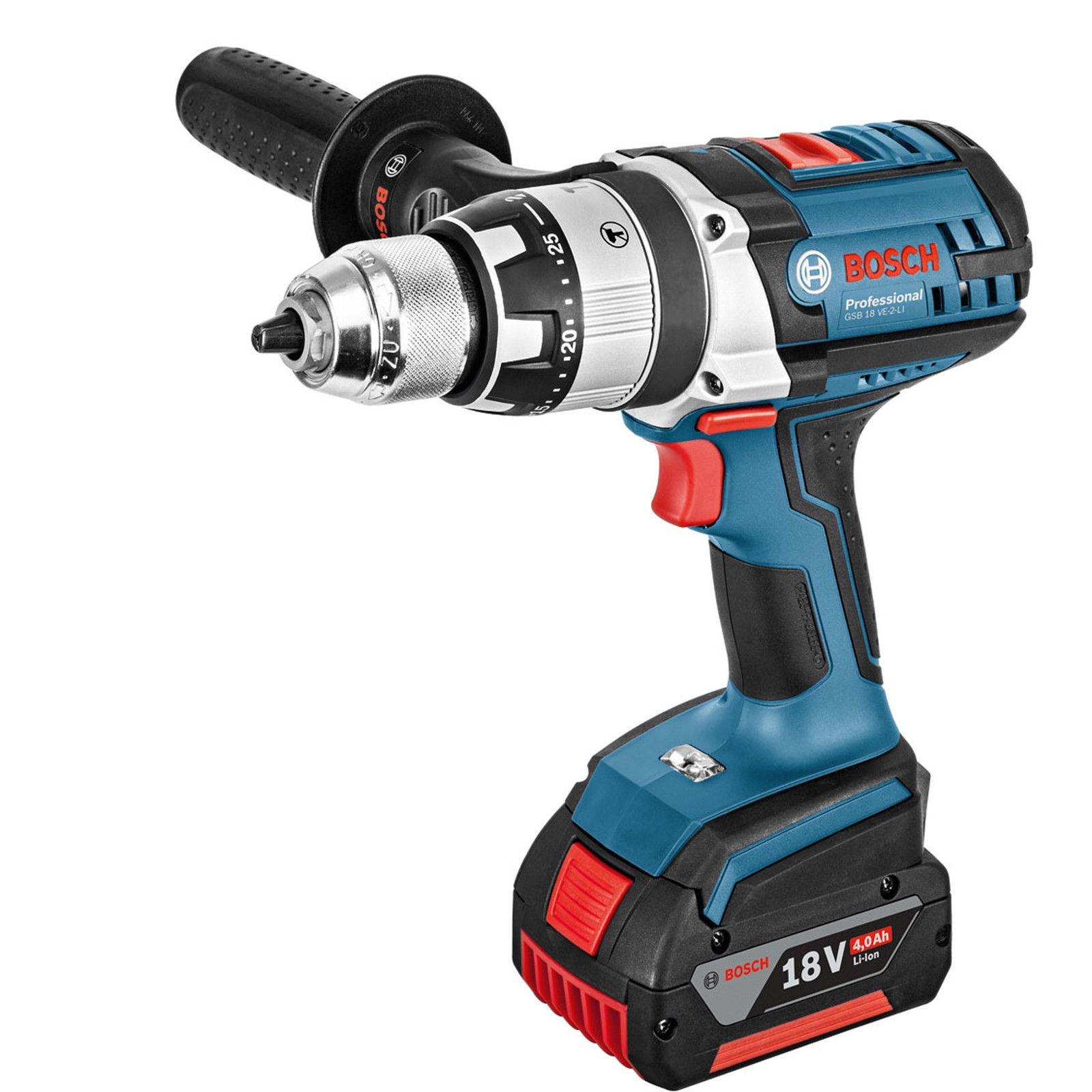 bosch gsb 18 ve 2 li 18v combi drill gdr 18 v li impact driver twin kit with 2x 4 0ah. Black Bedroom Furniture Sets. Home Design Ideas