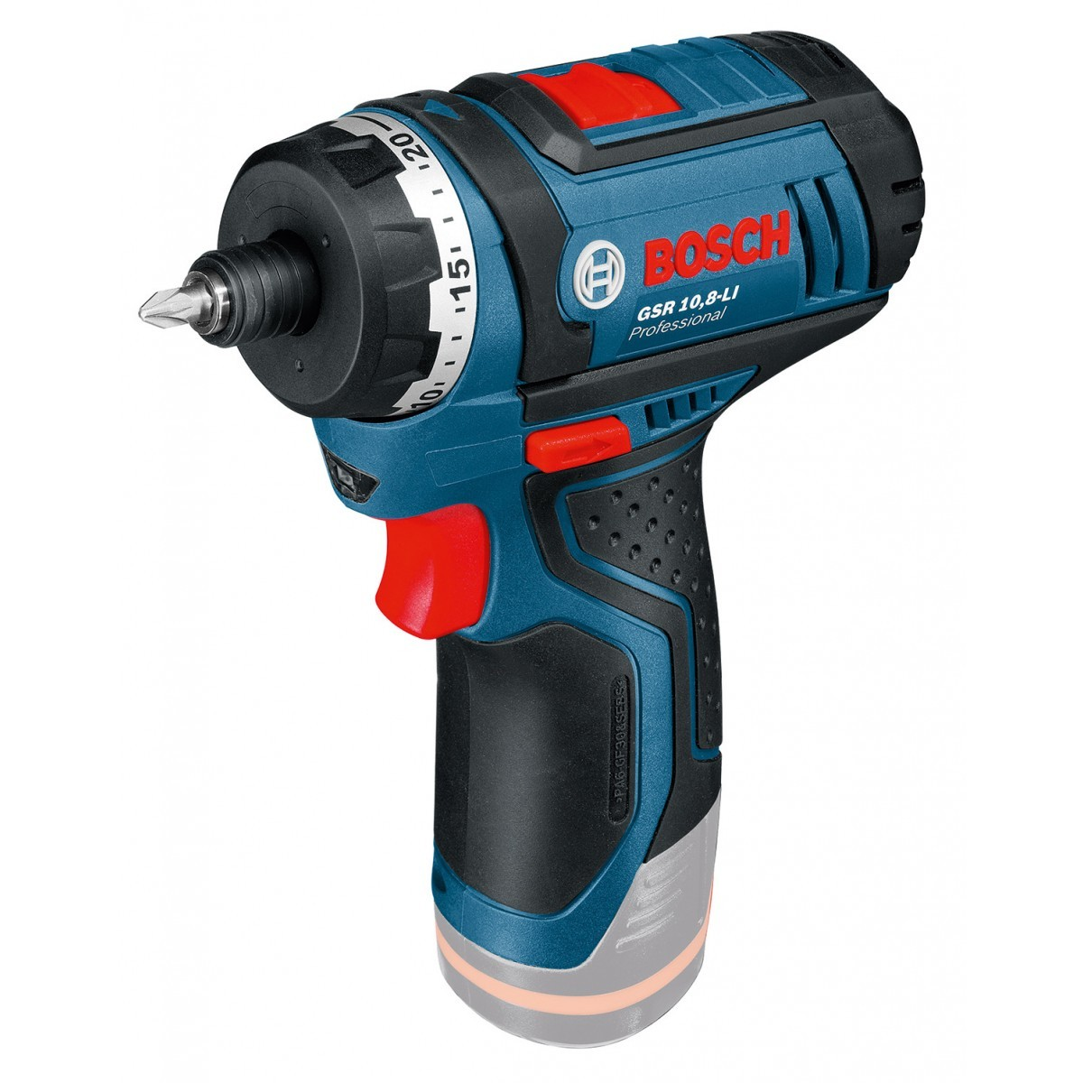 bosch gsr 10 8 li hex drill driver body only powertool world. Black Bedroom Furniture Sets. Home Design Ideas