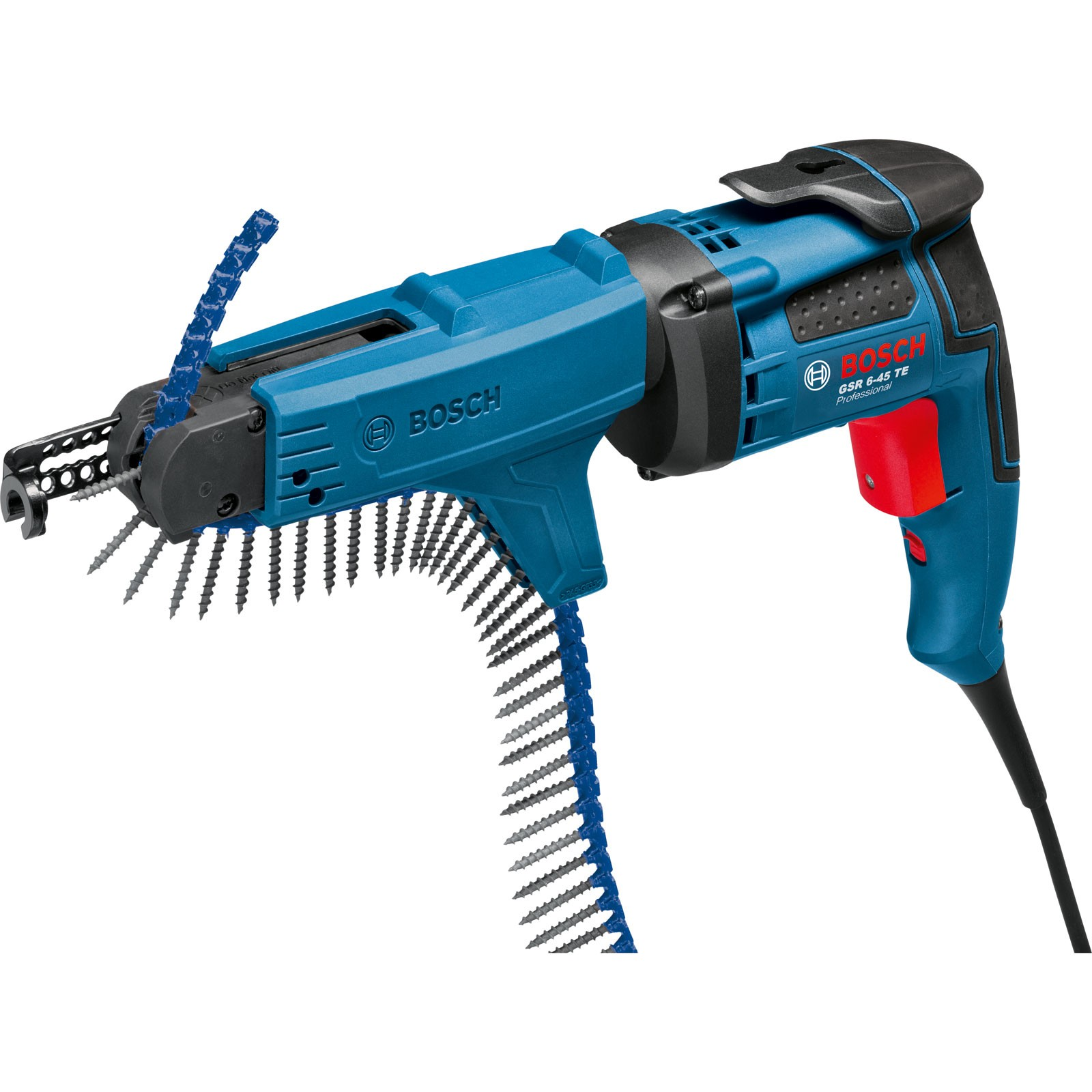 Bosch GSR 6-45 TE + MA 55 Professional Drywall Screwdriver & Adapter in L-Boxx