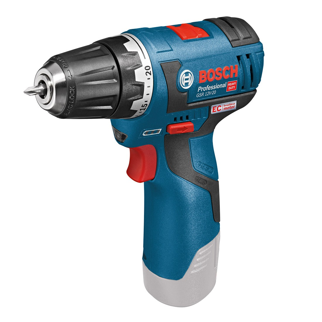 bosch gsr 10 8 v ec 12v 20 brushless drill driver body only powertool world. Black Bedroom Furniture Sets. Home Design Ideas