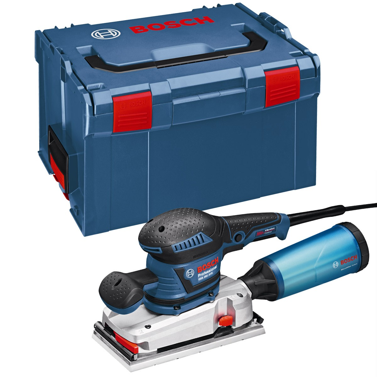 Bosch GSS 280 AVE 1/2 Sheet Sander with Vibration Control in L-Boxx