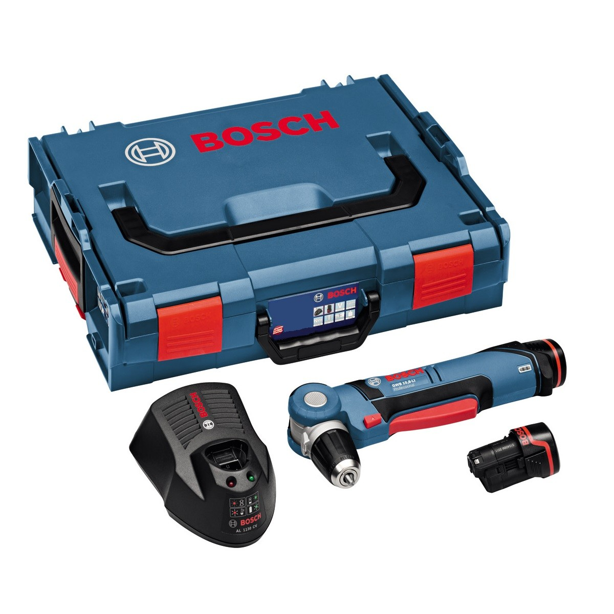 Bosch GWB 10.8-LI Angle Drill Driver Inc 2x 2.0Ah Batts in L-Boxx