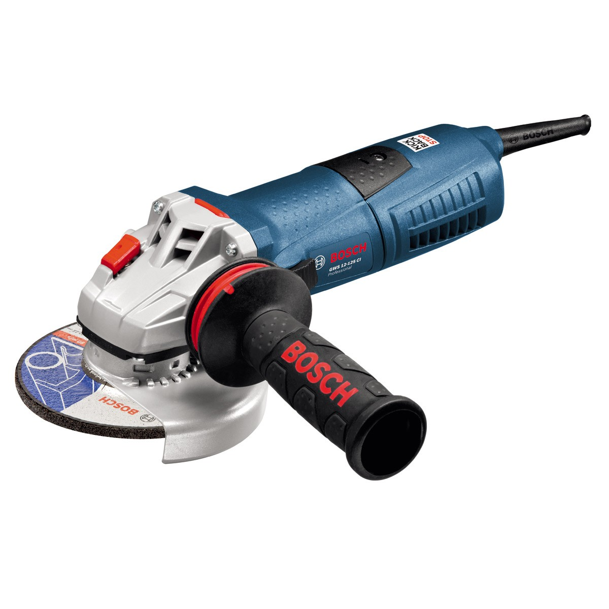 Bosch GWS 12-125 CI Angle Grinder with Anti Vibration Handle & Carry Case 125mm / 5""