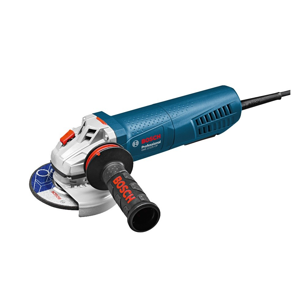 """Bosch GWS 12-125 CIP Angle Grinder with PROtection Paddle Switch 125mm / 5"""""""