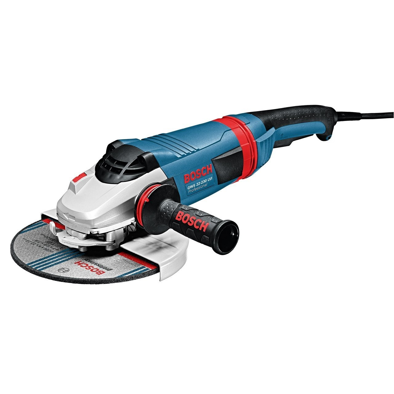 Bosch GWS 22-230 LVI Angle Grinder with Vibration Control Handle 230mm / 9""