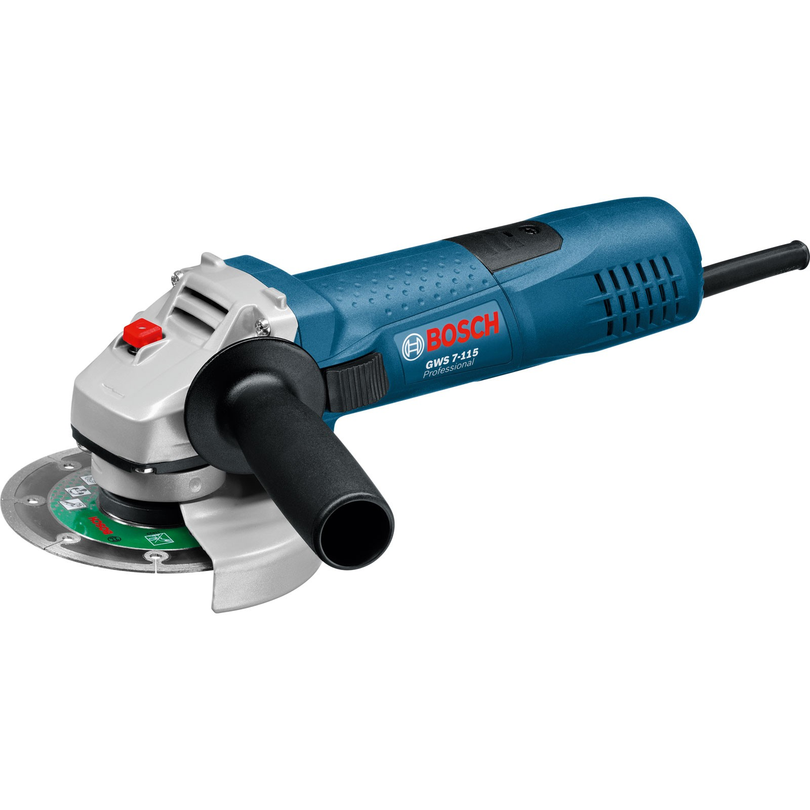 bosch gws 7 115 slim grip angle grinder 115mm 4 5. Black Bedroom Furniture Sets. Home Design Ideas