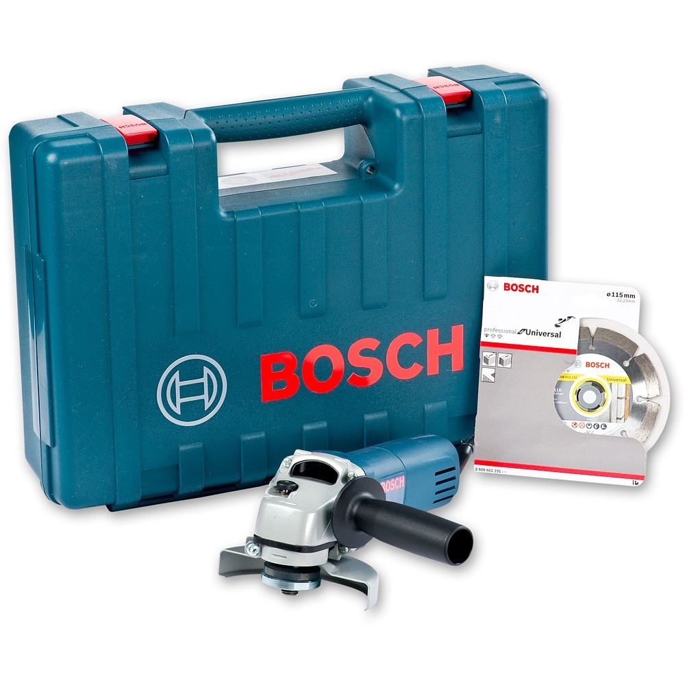 Bosch GWS 850 240v inc Diamond Blade & Carry Case