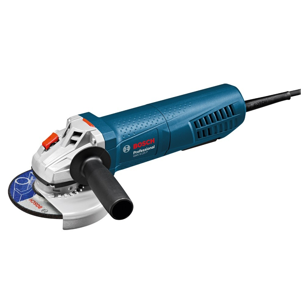 Bosch GWS 9-115 P Slim Grip Angle Grinder with Paddle Switch 115mm / 4.5""