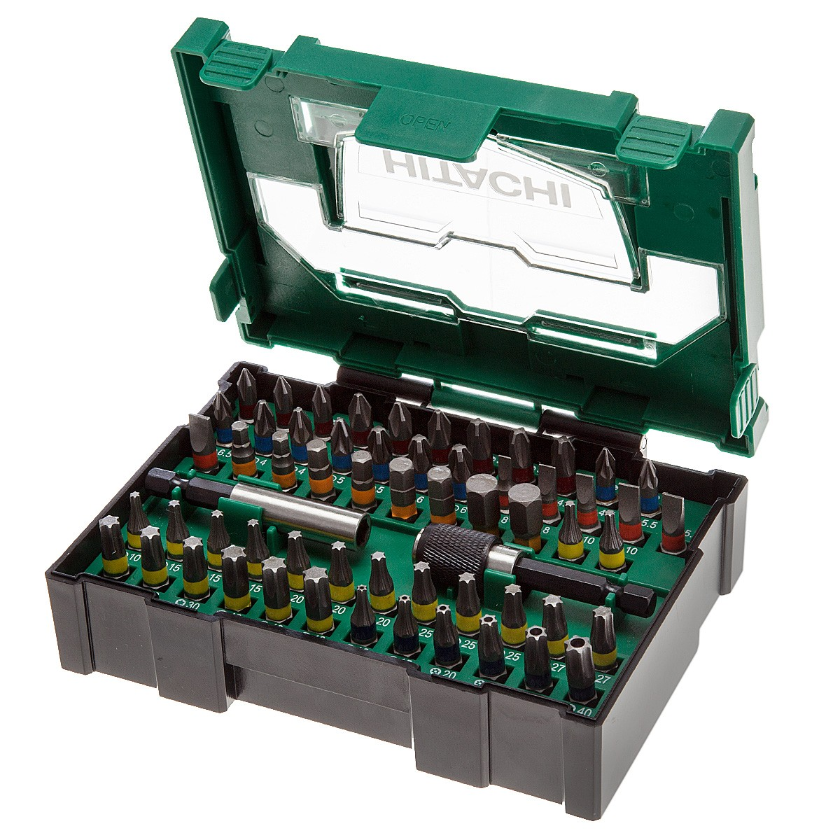 Hitachi 40030024 Stackable Driver Bit Box 60 Pieces