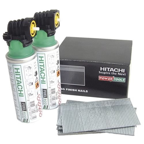 40mm Hitachi Second Fix Straight Brad Nails Galvanized 705582