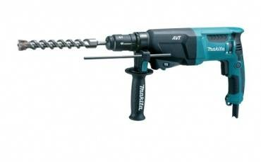 Makita HR2611FX2 26mm SDS+ Rotary Hammer Drill with Light & Bit Set