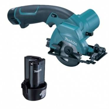Makita HS300DWE 10.8V Circular Saw Li-Ion 85mm Inc 2X 1.3Ah Batteries