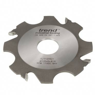 Trend IT/7120937 Adjustable grooving cutter 125x6x31.75mm