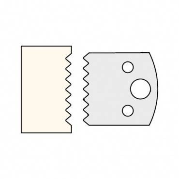 Trend IT/3307740 Knife 40mm x 4mm tool steel (pair)