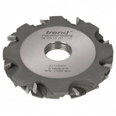 Trend IT/7120947 Adjustable grooving cutter 125x3-18x31.75mm