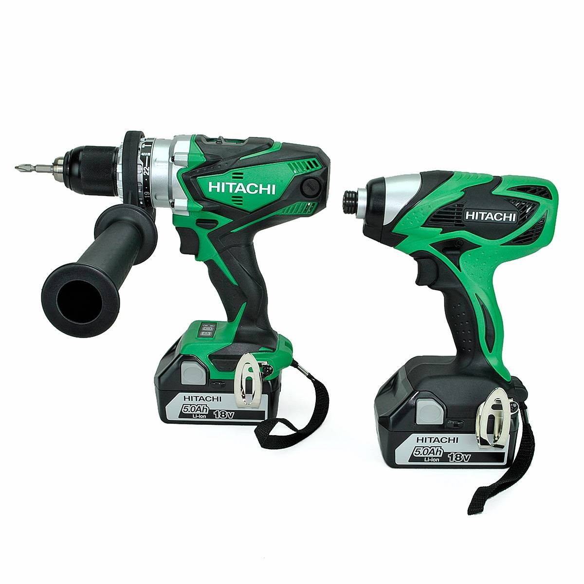 hitachi kc18dkl 18v combi drill impact driver kit 2x5ah. Black Bedroom Furniture Sets. Home Design Ideas