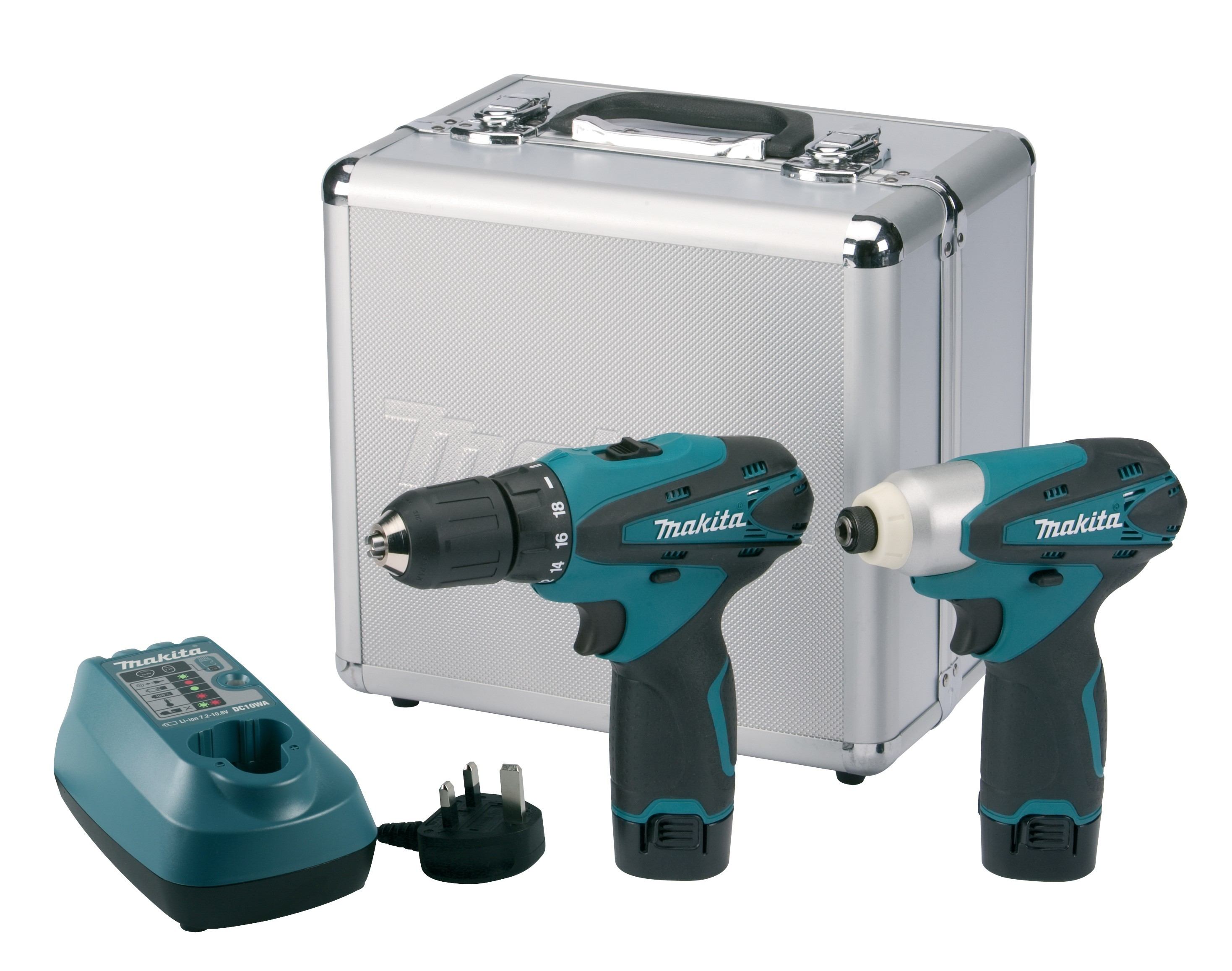 Makita Drill Set LCT204 10.8v LXT Twin Pack Drill Driver/Impact Driver