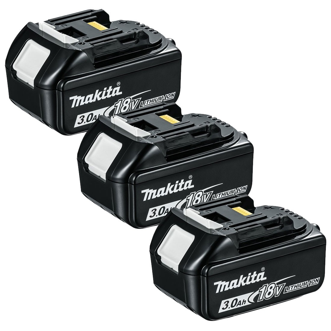 makita bl1830x3 18v lxt 3 0ah li ion battery triple pack. Black Bedroom Furniture Sets. Home Design Ideas