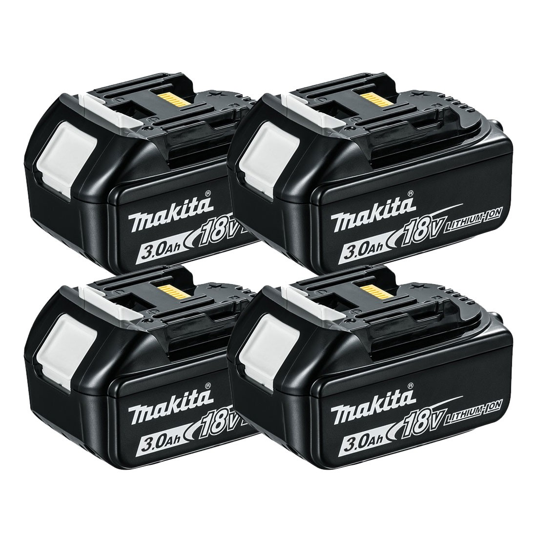 Makita BL1830X4 18v LXT 3.0Ah Li-Ion Battery Quad Pack