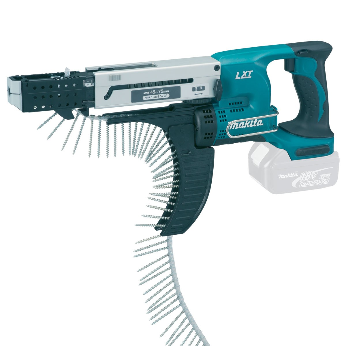 Makita DFR750Z LXT 18v Cordless Auto Feed Screwdriver Body Only