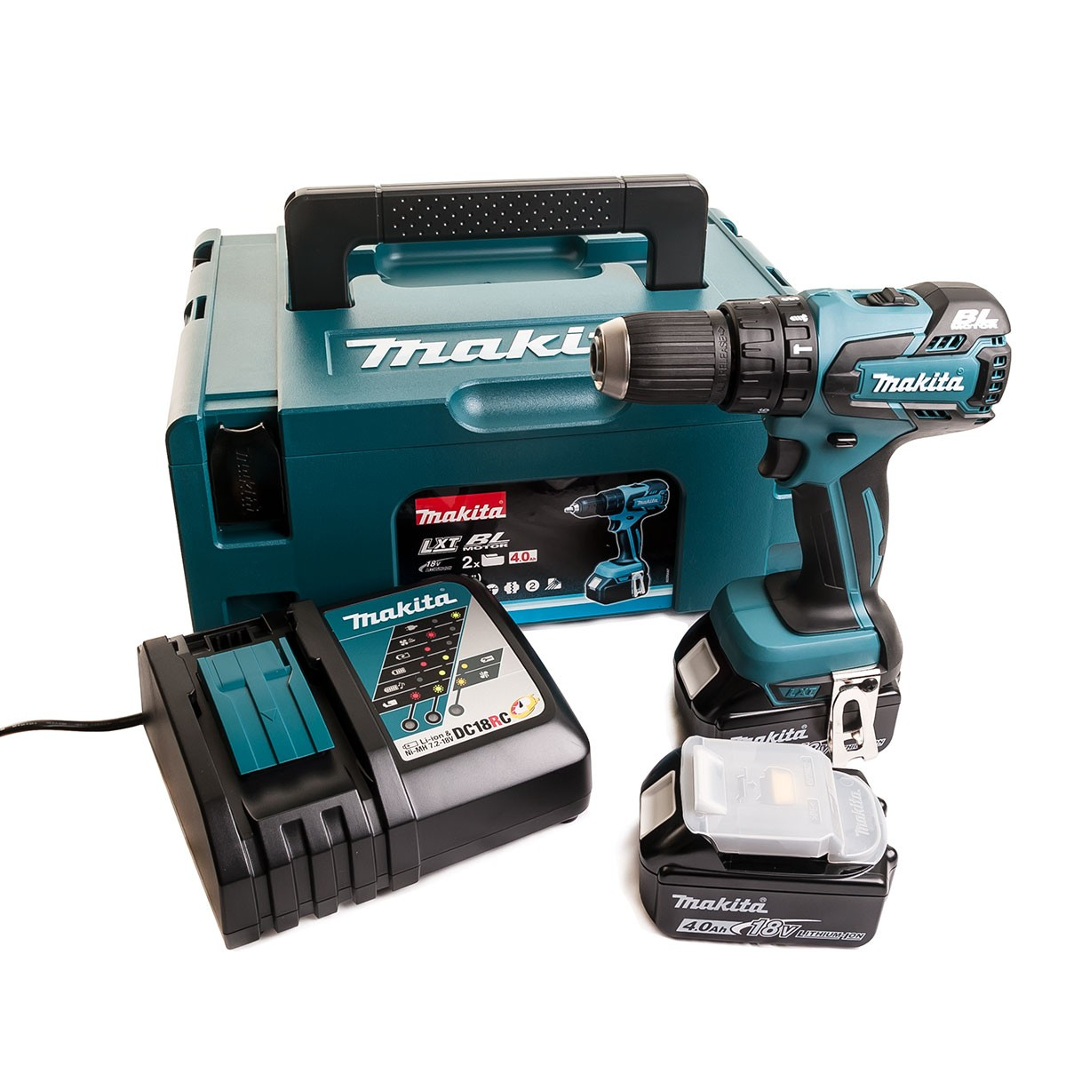 Makita Dhp459rmj 18v Cordless 13mm Brushless 2 Speed Combi Drill Inc 2x 4 0ah Lithium Ion