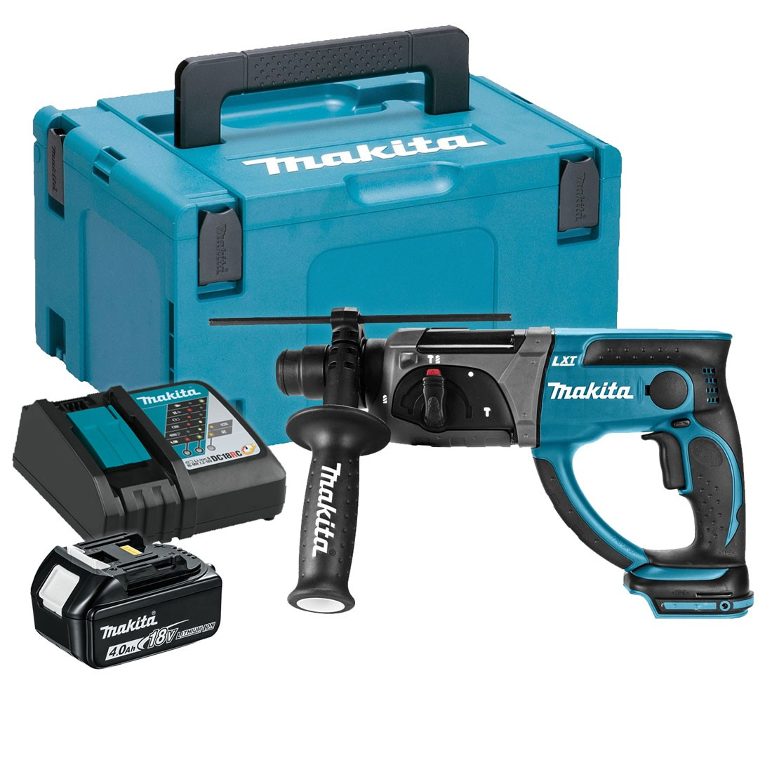 makita dhr202rm1j 18v rotary hammer sds plus 20mm inc 1x 4ah battery powertool world. Black Bedroom Furniture Sets. Home Design Ideas