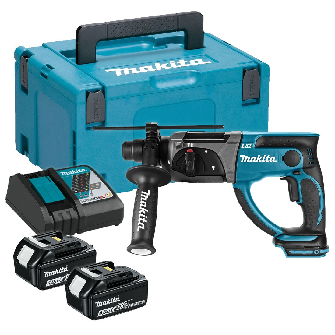 makita dhr202rmj 18v rotary hammer sds plus 20mm inc 2x. Black Bedroom Furniture Sets. Home Design Ideas
