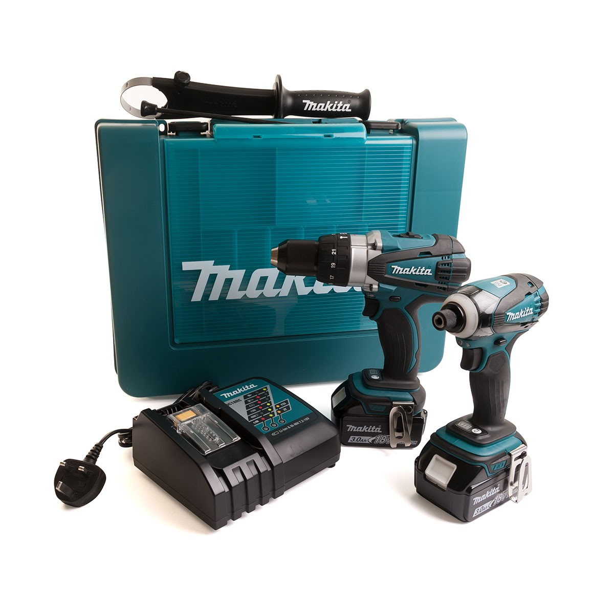 Makita DLX2005 18v Impact Driver/Combi Drill Kit inc 2x 3Ah Batts