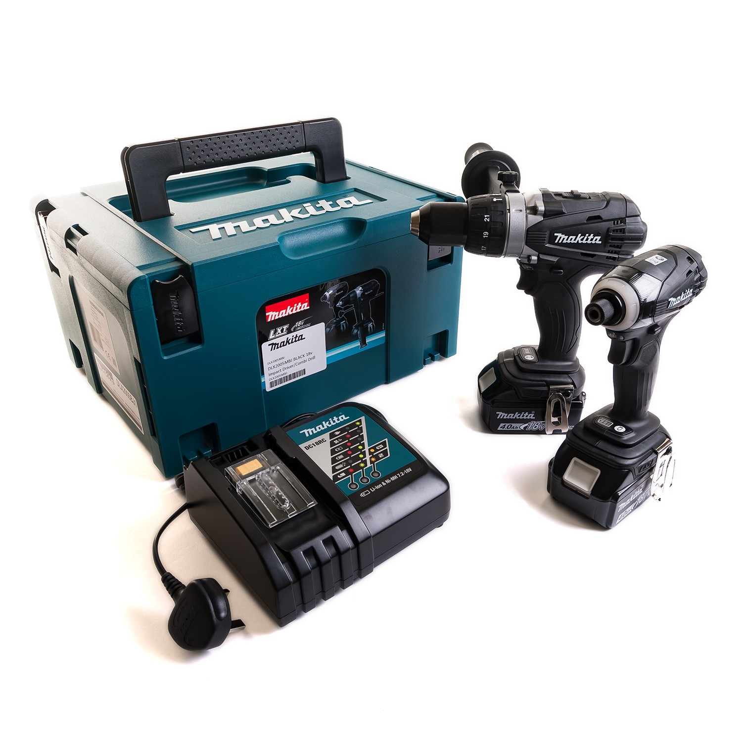 Makita DLX2005MBJ BLACK 18v Impact Driver/Combi Drill Twin Kit inc 2x 4Ah Batts