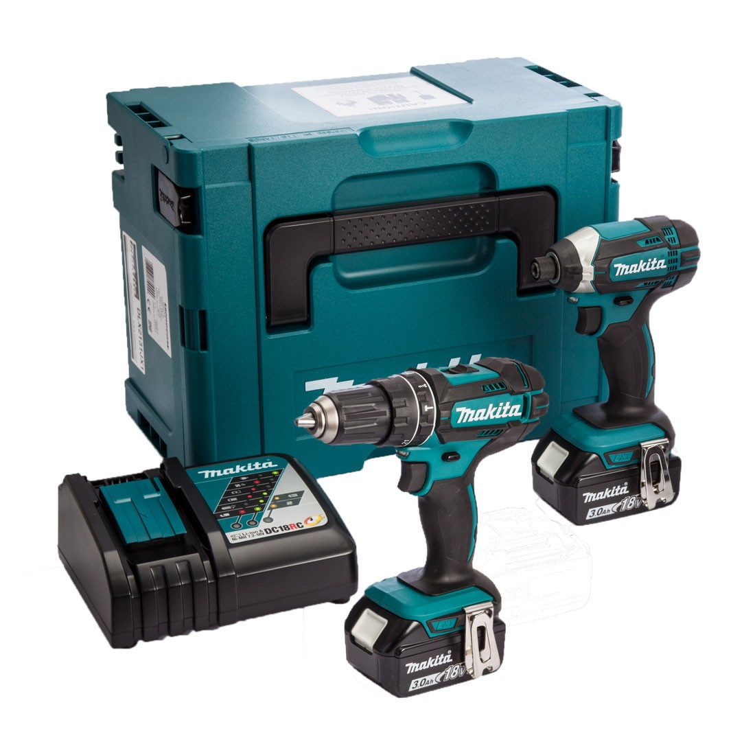 makita dlx2131j 18v cordless 2 piece kit dhp482 combi dtd152 impact driver inc 2x 3ah. Black Bedroom Furniture Sets. Home Design Ideas