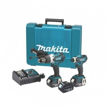 Makita DLX2005X1 18v Impact Driver/Combi Drill Kit inc 3x 3Ah Batts