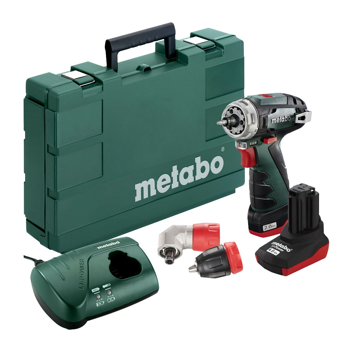 Metabo PowerMaxx BS Quick Pro 10.8v Cordless Drill Driver inc 1x 2.0Ah & 1x 4.0Ah Batteries
