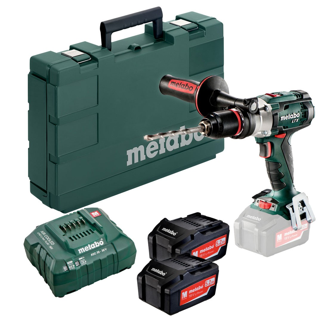 metabo sb 18 ltx impuls powerextreme 18v combi drill inc 2x 5 2ah batteries powertool world. Black Bedroom Furniture Sets. Home Design Ideas