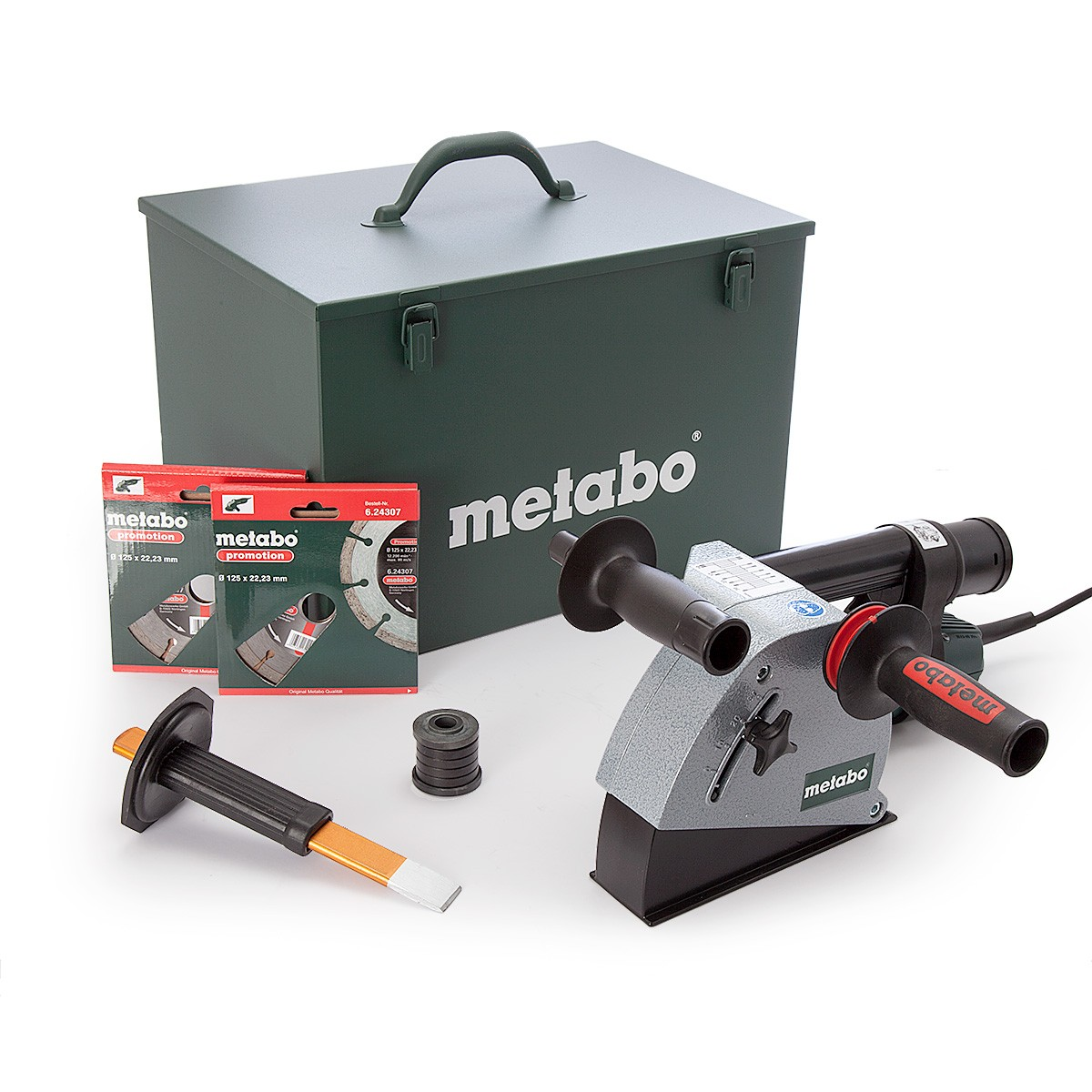 Metabo MFE 30 1400W Wall Chaser inc 2x Diamond Blades in Metal Carry Case