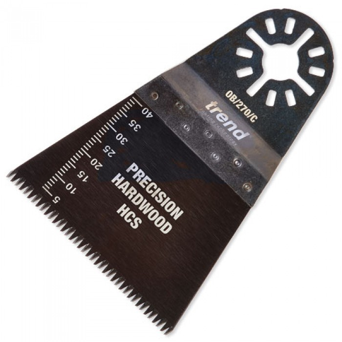 Trend OB/270/C HCS Fine Precision Japanese Tooth Oscillating Blade for Hardwood & Wood 64x41mm